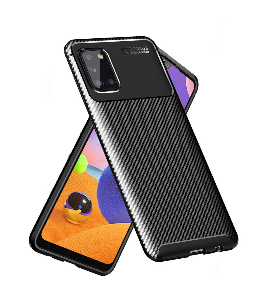 Aramid Fibre Series Shockproof Armor Back Cover for Samsung Galaxy A31 6.4 inch, Black
