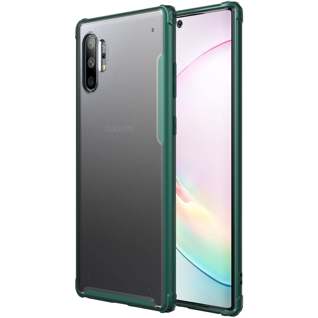 Back Cover, Drop Tested, TPU (Rubber), green, note 10 plus, Rugged Frosted, ₹500 - ₹699, samsung, PolyCarbonate (Plastic), Slim Design, translucent