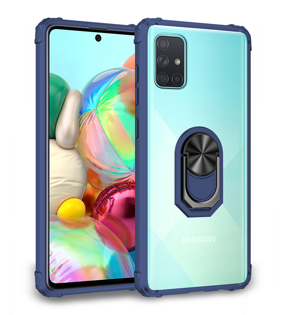 Back Cover, blue, Clear Ring Series, Drop Tested, galaxy a71, Magnetic, PolyCarbonate (Plastic), samsung, Slim Design, TPU (Rubber), Transparent, ₹500 - ₹699