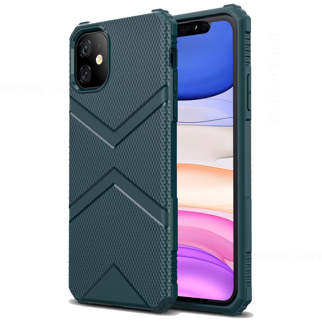 Apple, Back Cover, Drop Tested, TPU (Rubber), green, iPhone 11, ₹500 - ₹699, X-Armor, PolyCarbonate (Plastic), Ultra Protection, Solid