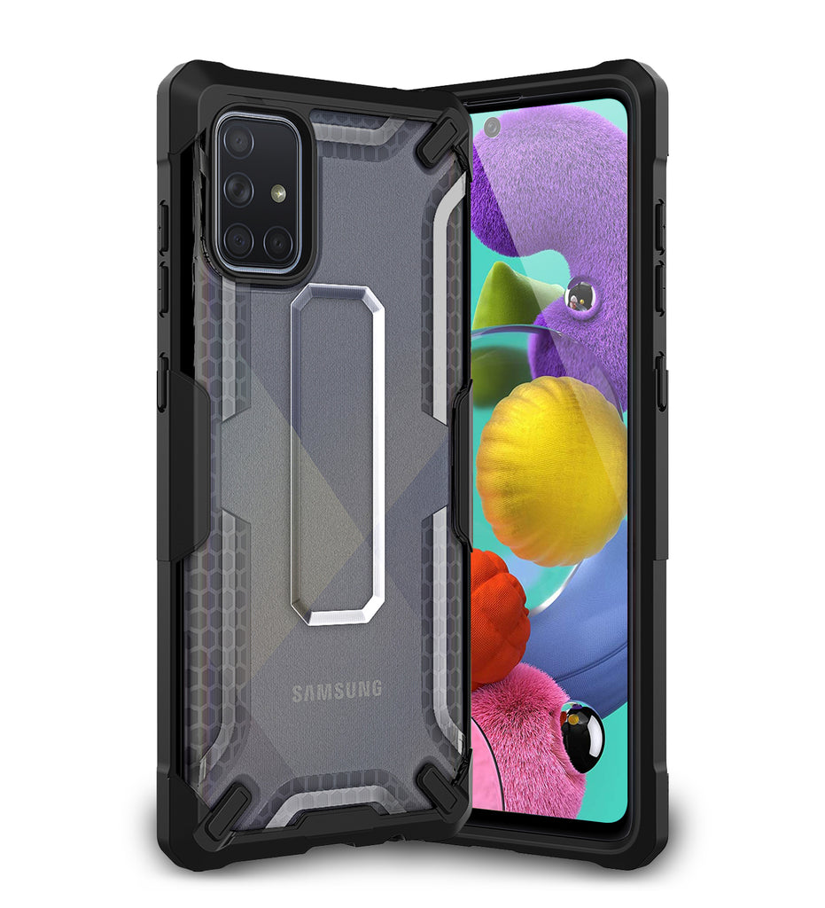 A51, Back Cover, Drop Tested, TPU (Rubber), black, Drop Defense Pro, ₹700 - ₹999, PolyCarbonate (Plastic), Ultra Protection, , samsung, translucent