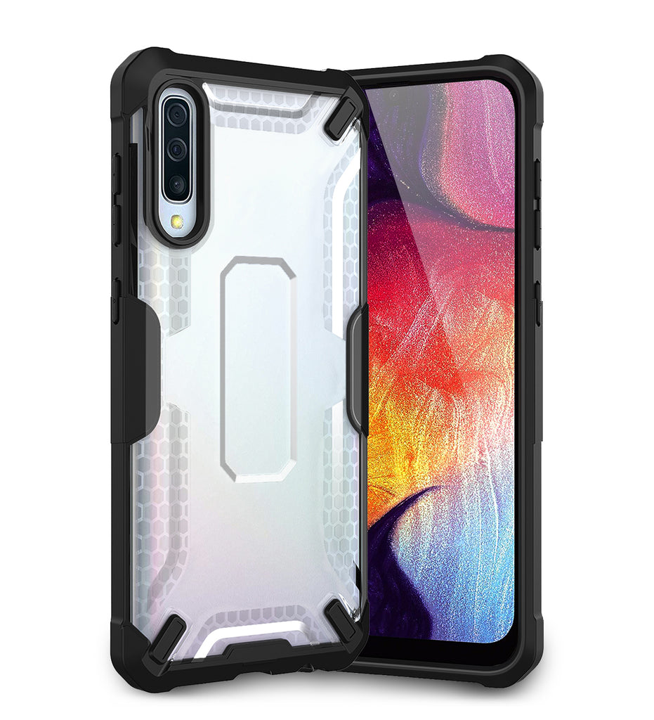 A30s, A50, A50s, Back Cover, Drop Tested, TPU (Rubber), Drop Defense Pro, ₹700 - ₹999, PolyCarbonate (Plastic), Ultra Protection, , samsung, translucent, white