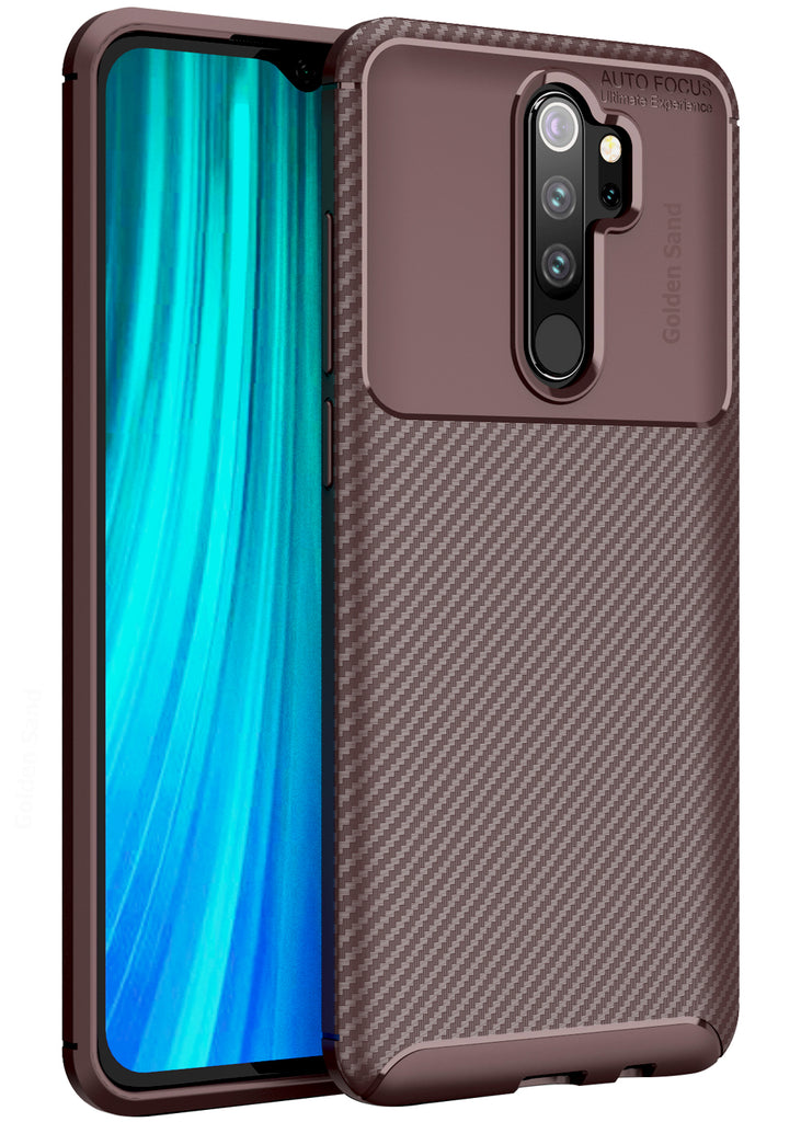 Aramid Fibre Series Shockproof Armor Back Cover for Xiaomi Redmi Note 8 Pro 6.53 inch, Brown