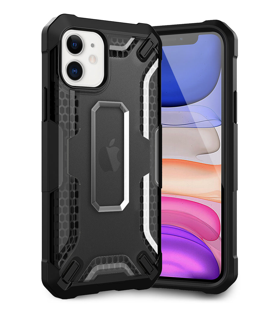 Apple, Back Cover, Drop Tested, TPU (Rubber), black, Drop Defense Pro, ₹700 - ₹999, PolyCarbonate (Plastic), Ultra Protection, iPhone 11, , translucent