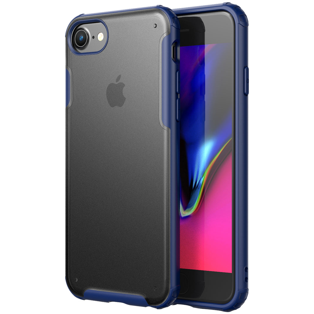 Apple, Back Cover, Drop Tested, TPU (Rubber), blue, iphone 6, iphone 6s, iphone 7, iphone 8, IPHONE SE 2020, Rugged Frosted, ₹500 - ₹699, PolyCarbonate (Plastic), Slim Design, translucent