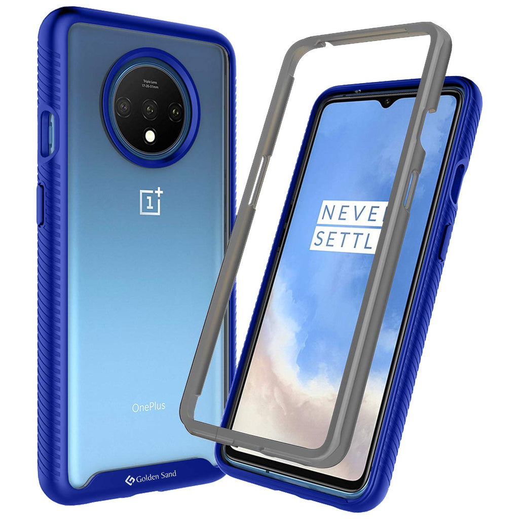Back Cover, Drop Tested, TPU (Rubber), blue, full body pro, ₹500 - ₹699, PolyCarbonate (Plastic), Ultra Protection, oneplus, oneplus 7T, , Transparent