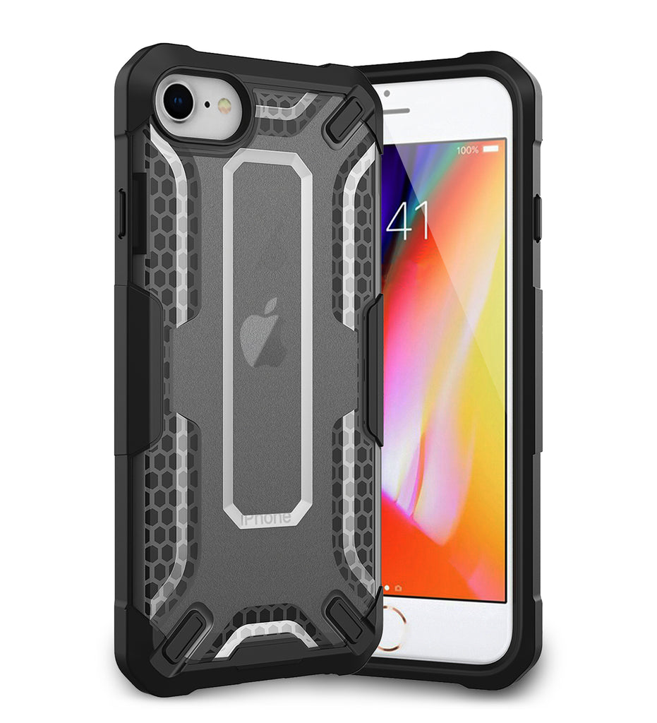 Apple, Back Cover, Drop Tested, TPU (Rubber), black, Drop Defense Pro, ₹700 - ₹999, PolyCarbonate (Plastic), Ultra Protection, iphone 6, iphone 6s, iphone 7, iphone 8, IPHONE SE 2020, , translucent