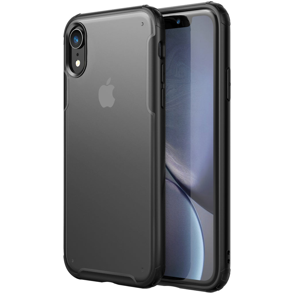 Apple, Back Cover, Drop Tested, TPU (Rubber), black, iphone XR, Rugged Frosted, ₹500 - ₹699, PolyCarbonate (Plastic), Slim Design, translucent