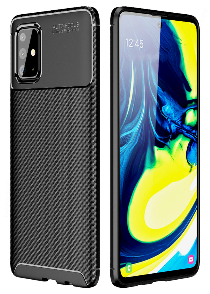 Aramid Fibre Series Shockproof Armor Back Cover for Samsung Galaxy A71 6.7 inch, Black