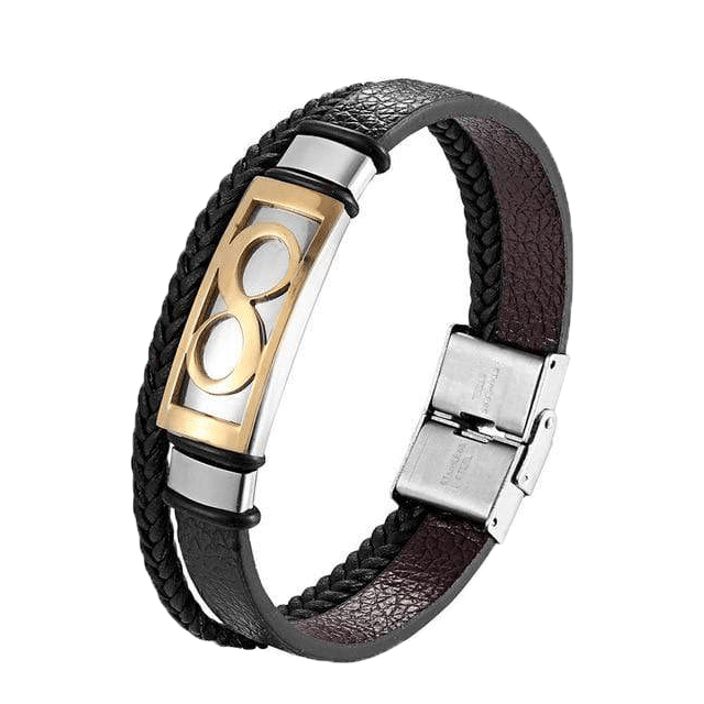 BERLETTI LEATHER INFINITY CUFF