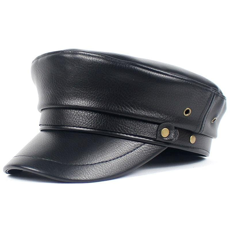 BERLETTI LEATHER CLASSIC ARMY CAP