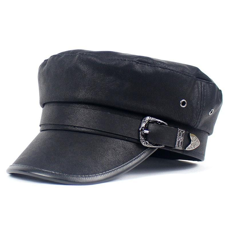 BERLETTI LEATHER BELT LOOP CAP