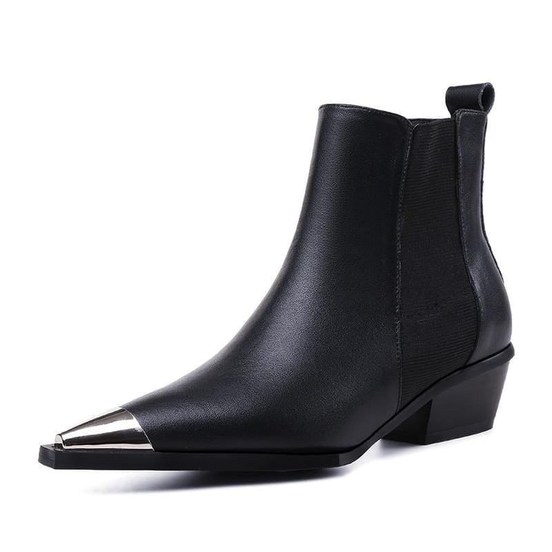 BERLETTI LEATHER METAL TOE BOOT