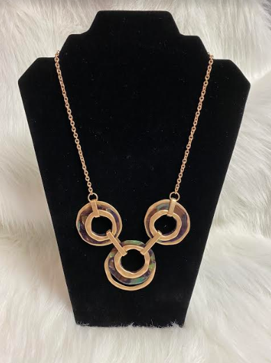 Gold 3 Ring Necklace