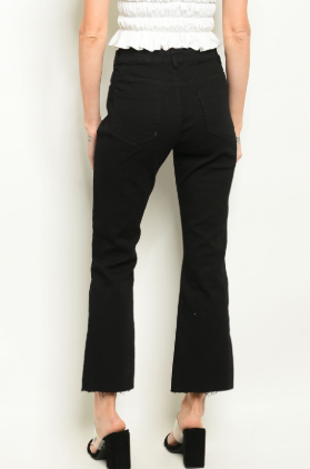 Black Capri Cut-off Pants