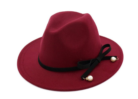 Burgundy Fedora Hat