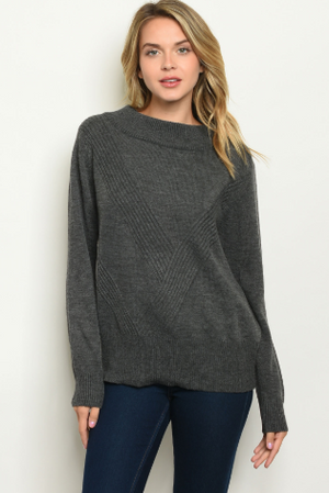 """ Kendra""  Open Back Sweater"