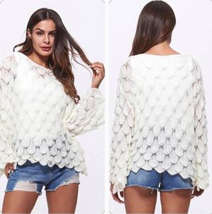 """April"" Feathered Sweater"