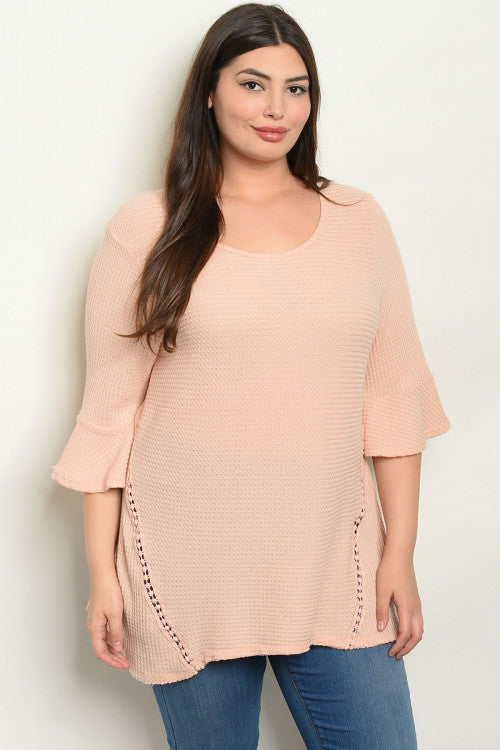 Peach Plus Size Top