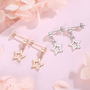 Earrings female temperament Korean personality wild star earrings earrings simple wild earrings jewelry