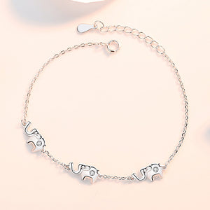 Original design sterling silver little white elephant bracelet female Korean version creative simple bracelet temperament light luxury new bracelet