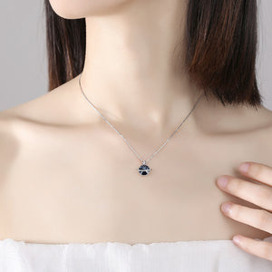 Sterling silver necklace female European and American ins simple Swarovski crystal jewelry clavicle chain Tanabata gift