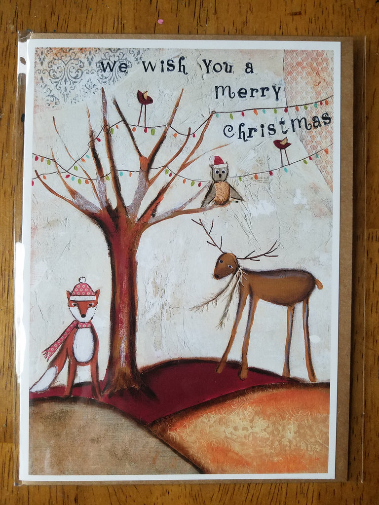 We Wish You a Merry Christmas 5 x 7 card with envelope