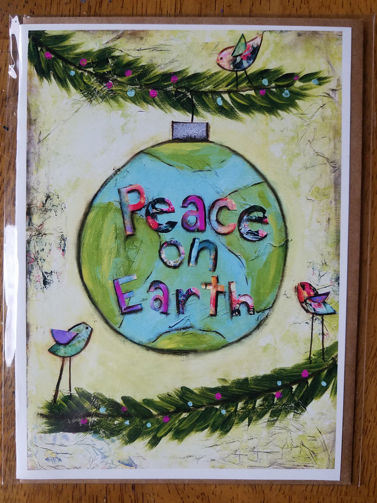 Peace on Earth 5 x 7 card with envelope