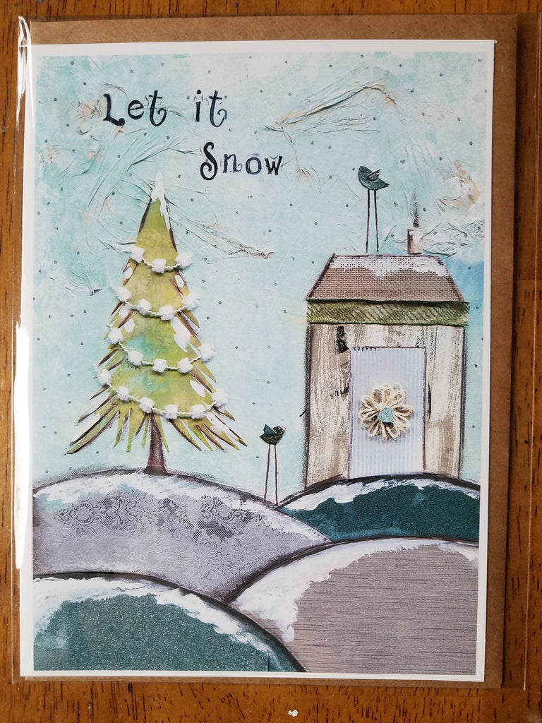 Let it Snow 5 x 7 card with envelope