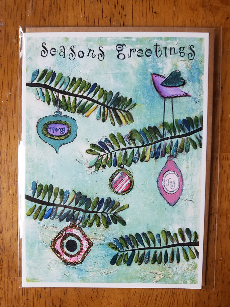 Seasons Greetings 5 x 7 card with envelope