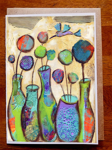 Five Vases......5 x 7. Greeting Card
