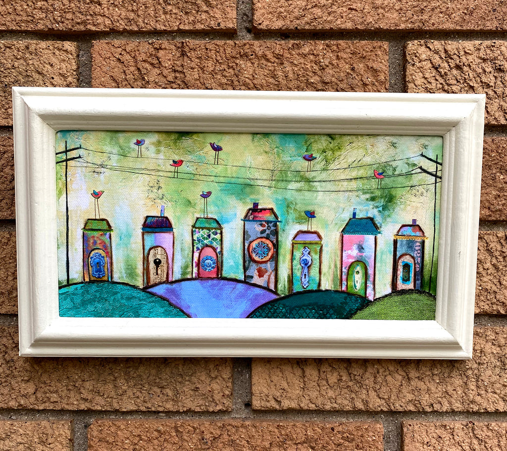 Whimsical Village....Framed Print