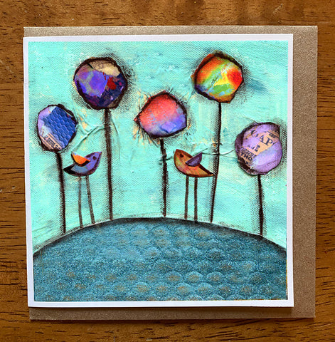 Out for a Stroll...... 5 x 5 greeting card