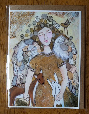 Angel and Friends 5 x 7 card with envelope