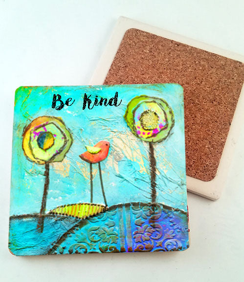 Be Kind.. absorbant stone coaster