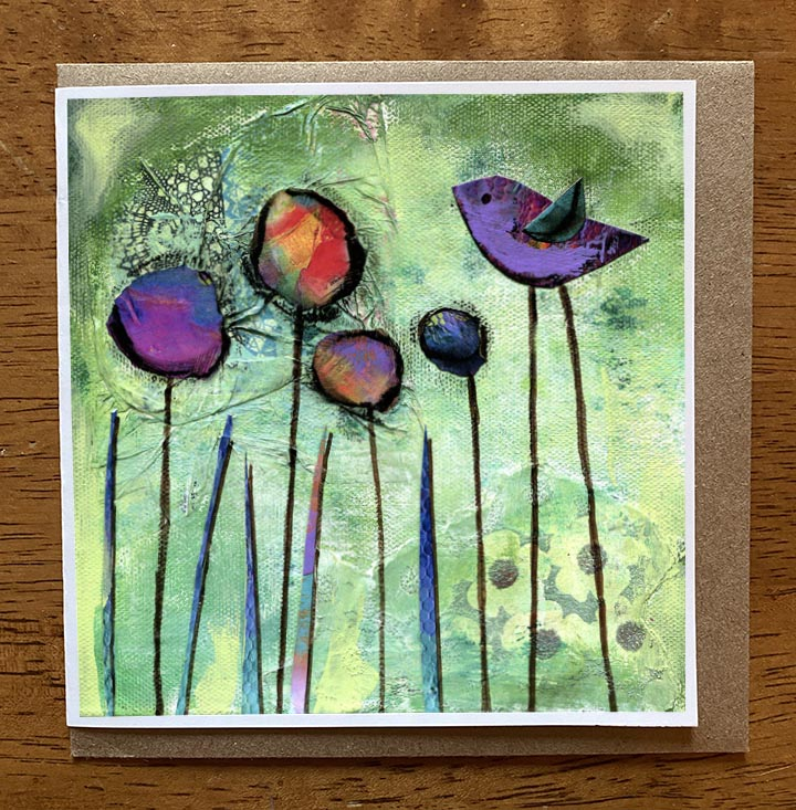 Joy Garden.. 5 x 5 greeting card