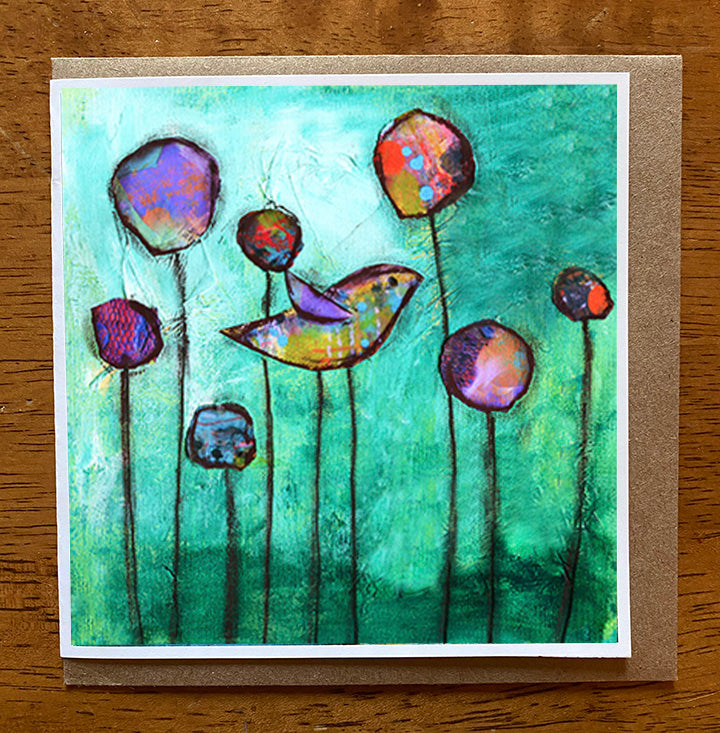 Reflection. 5 x 5 greeting card
