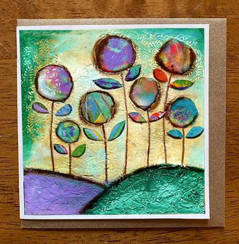 Garden Dance....5 x 5 greeting card