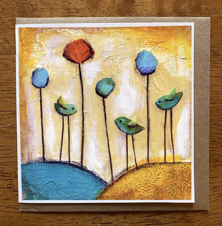 Sunset Melody.. 5 x 5 greeting card
