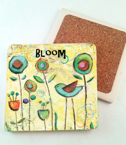 Bloom... absorbant stone coaster