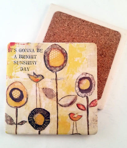 Bright Sunshiny Day... absorbant stone coaster