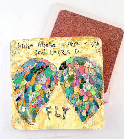 Broken Wings......Absorbant Stone Coaster