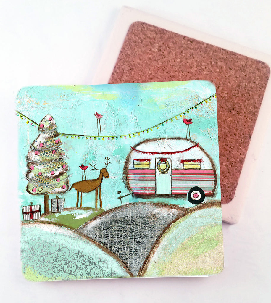 Camper..Absorbant Stone Coaster