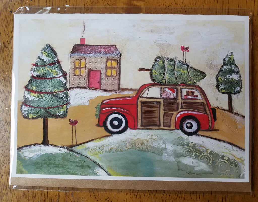 Christmas Cruisin'  5 x 7 card with envelope