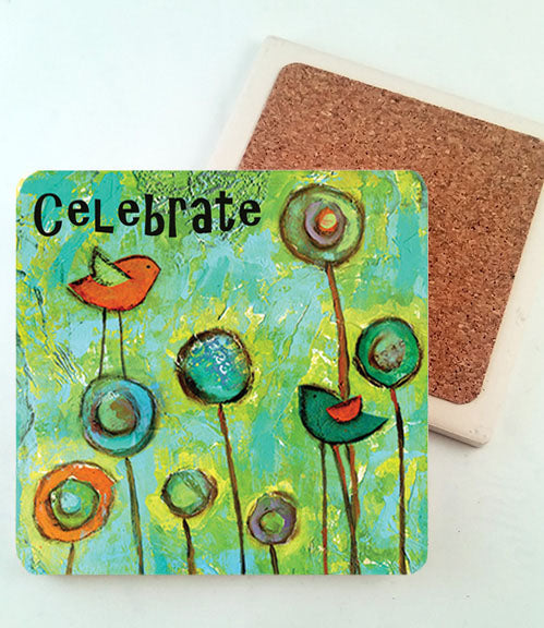Celebrate... absorbant stone coaster