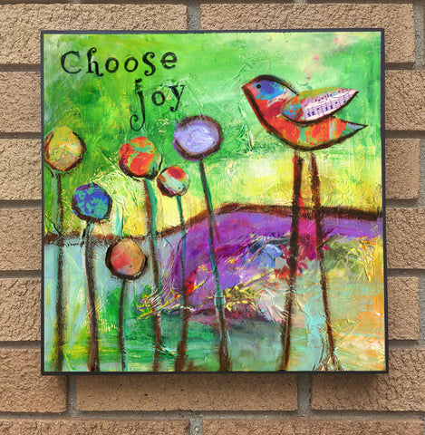 Choose Joy... wood block print