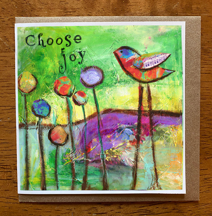 Choose Joy... 5 x 5 greeting card