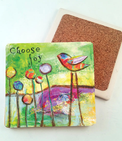 Choose Joy... absorbant stone coaster