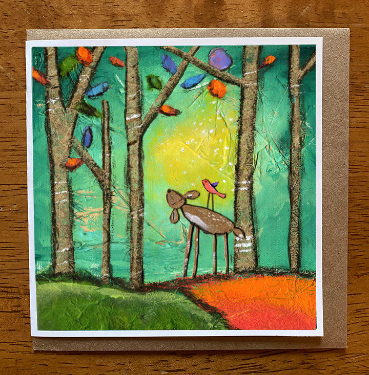 Forest Friends... 5 x 5 greeting card