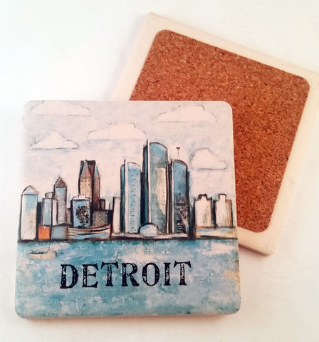 Detroit... absorbant stone coaster